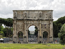 Arch of Constantine Rome. Rome, Italy - May 2016: Arch of Constantine Royalty Free Stock Image