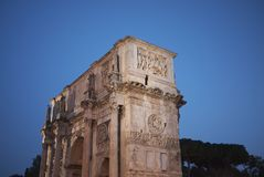 The Arch of Constantine. Rome, Italy - October 11, 2014 : The Arch of Constantine in Rome Stock Image
