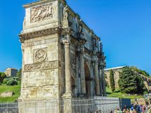 The Arch of Constantine in Rome, Italy stock photography