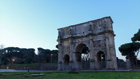 Arch of Constantine. Rome, Italy. Time Lapse. 4K stock video footage