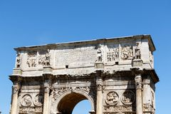 Arch of Constantine, Rome, Italy Royalty Free Stock Photos