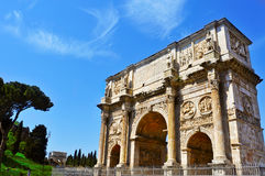 Arch of Constantine in Rome, Italy. A view of the Arch of Constantine in Rome, Italy Stock Photo