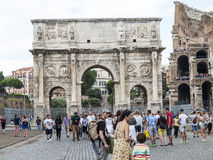 Arch of Constantine, Rome. Arch of Constantine near the Colosseum in Rome, Italy Royalty Free Stock Images