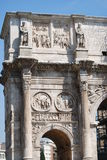 Arch of Constantine in Rome next Coliseum. The Arch of Constantine in Rome next Coliseum Stock Image