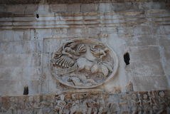 Arch of Constantine in Rome next Coliseum Stock Photo