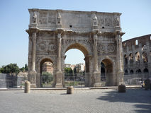 Arch of Constantine, Rome. Next to the coliseum Stock Photography