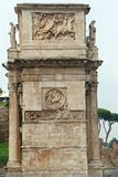 Arch of Constantine, Rome. ROMA, ITALY - 01 OCTOBER 2017: Arch of Constantine, Rome Royalty Free Stock Image