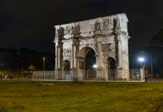Arch of Constantine in Rome. Roman Arch of Constantine in the city of Rome, Italy Royalty Free Stock Images