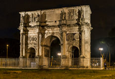 Arch of Constantine in Rome. Roman Arch of Constantine in the city of Rome, Italy Stock Image
