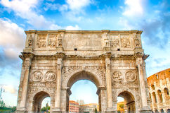 Arch of Constantine, Rome. Arch of Constantine at the Roman Forum in Rome, Italy Stock Images