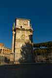 Arch of Constantine in Rome. Side view of the Arch of Constantine, Rome Italy Stock Photos