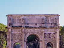 Arch of Constantine, Rome. Summer view of the Arch of Constantine against blue sky. In Rome, Italy Stock Image