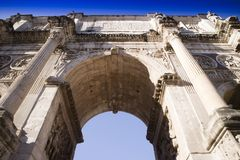 Arch of Constantine Rome. View of the Arch of Constantine located in Rome the eternal city Stock Images