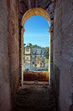 The Arch of Constantine from the Colosseum - landmark attraction in Rome, Italy Royalty Free Stock Photo