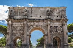 Arch of Constantine in sunny holidays with blue sky Royalty Free Stock Photos