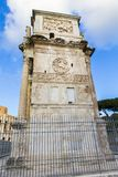 Arch of Constantine. Tourists visiting Arch of Constantine from Rome, Italy Stock Image