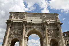 Arch of Constantine. The Arch of Constantine is a triumphal arch in Rome, situated between the Colosseum and the Palatine Hill, Italy Royalty Free Stock Image