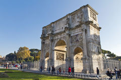 Arch of Constantine. A triumphal arch in Rome, located between the Colosseum and the Palatine Hill Stock Photography