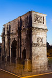 Arch Of Constantine. View from the Colosseum. Rome Italy Royalty Free Stock Image
