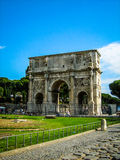 Arch of Constantine, Rome. Summer view of the Arch of Constantine in Rome, Italy Stock Images