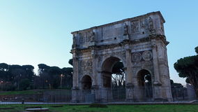 Arch of Constantine. Zoom. Rome, Italy. Time Laps stock video