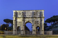 Arch of Constantino. The Constantino Arch next to the Colosseum in Rome Royalty Free Stock Image