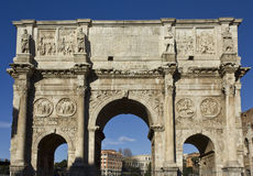 Arch of Constatine in Rome, Stock Image