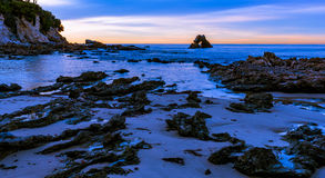 The Rock Arch at Corona Del Mar Beach, California Stock Photos