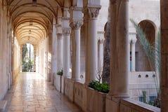 Arch corridor. Arch antique corridor in Jerusalem, Israel Royalty Free Stock Image