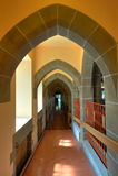 Arch and corridor. Interior arches and corridor of a historical church in victoria, british columbia, canada Stock Photo