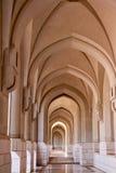 Arch corridor in an Arabic mosque Stock Photos