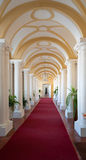 Arch corridor. Archway corridor in Rundale palace in Latvia - a unique treasury of baroque and rococo art Royalty Free Stock Image