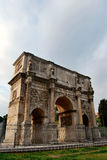 Arch of Costantine, Rome. The Arch of Constantine  is a triumphal arch in Rome, situated between the Colosseum and the Palatine Hill Royalty Free Stock Images