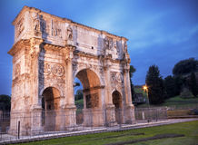 Arch of Costantine. In Rome at dusk Stock Photo