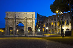 The arch of Costantine, Rome, Italy. Colosseum and arch of Costantine, Rome, Italy Stock Photography