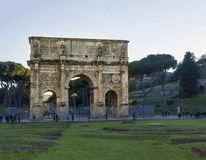 Arch costantino colosseum rome. Beautiful roman arch colosseum arch costantino roman ruins near colosseum Royalty Free Stock Image