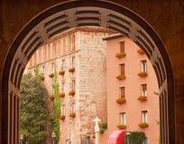Arch Cross Monestir Monastery of Montserrat Barcelona Spain Royalty Free Stock Photo