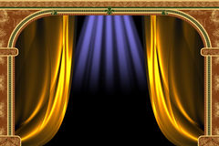 Arch, Curtain And The Light Royalty Free Stock Photo