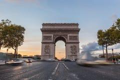 Arch de Triomphe στο Παρίσι Στοκ φωτογραφία με δικαίωμα ελεύθερης χρήσης