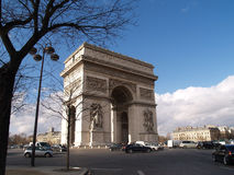 The arch de triomphe Stock Photos