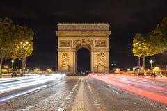 Arch de Triomphe et Champs-Elysees Images libres de droits