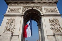 Arch DE Triomphe Parijs Stock Afbeeldingen