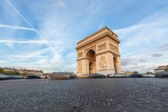 Arch de Triomphe in Paris Stock Photography