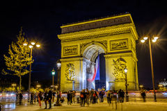 Arch de Triomphe, Paris, France Photographie stock libre de droits