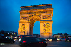 Arch de Triumph, Παρίσι Στοκ φωτογραφία με δικαίωμα ελεύθερης χρήσης
