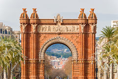 The Arch de Triumph in Barcelona, Spain. The Arc de Triumph in Barcelona, Spain was build in 1888 for Universal Exposition. The Arch served as  its archway to Stock Photography