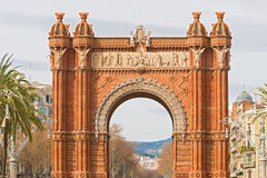 The Arch de Triumph in Barcelona, Spain. The Arc de Triumph in Barcelona, Spain was build in 1888 for Universal Exposition. The Arch served as  its archway to Royalty Free Stock Images