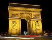 Arch de Triumph, Paris, France. Arch de Triumph (Arch of Triumph) at night, Paris, France Stock Photos
