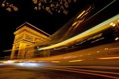 Arch de Triumph, Paris, France. Arch de Triumph (Arch of Triumph) at night, Paris, France Royalty Free Stock Photo