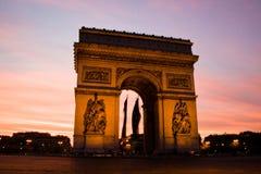 Arch de Triupmh, Parigi Immagini Stock